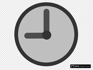 Clock 9:00 SVG Clipart