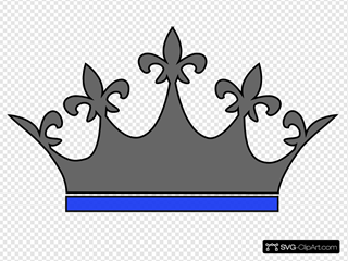 Queen Crown Gray Blue