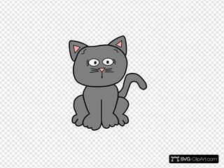 Gray Afraid 2 SVG Clipart