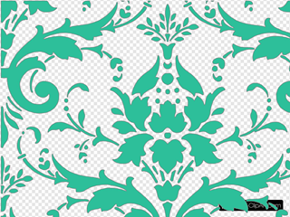 Teal Green Damask