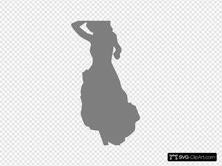Show Girl, Dress, Gray, Silhouette
