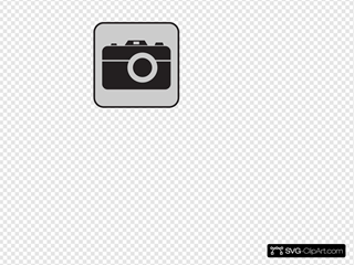 Camera Gray Background SVG Cliparts