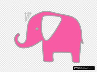 Light Pink Gray Elephant