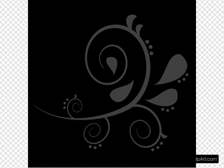 Black Grey Swirl 1 SVG Cliparts