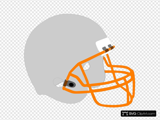 Football Helmet Gray