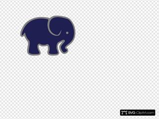 Navy Gray Elephant