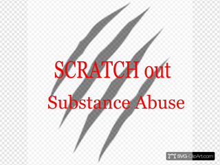 Scratch Out Substance Abuse Logo
