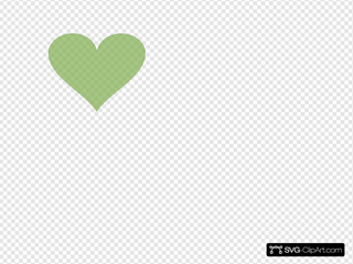 Light Green Heart Clipart