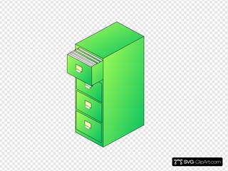 Filing Cabinet Green