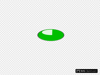 Green Oval Button