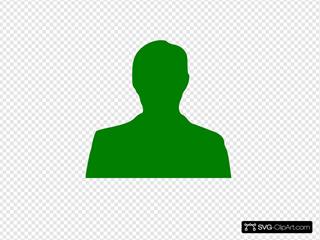 Green Man Sillhouette