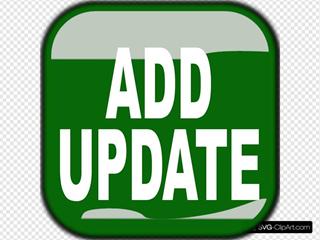 Green Add Update Square Button