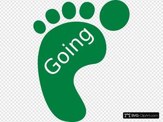 Going Green Footprint Left