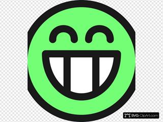 Flat Grin Smiley Emotion Icon Emoticon