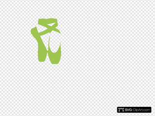 Ballet Slippers Green