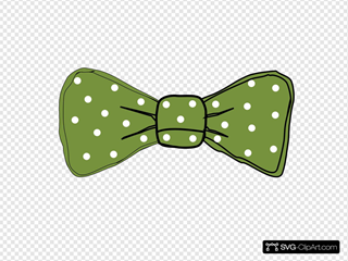 Bow tie green. Clip art icon and