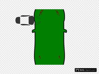 Green Car - Top View