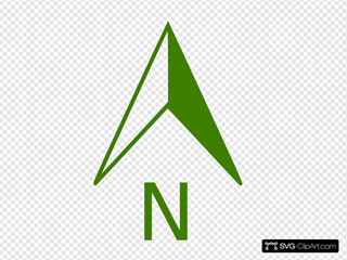 Green North Arrow
