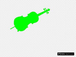 Green Cello Silhouette