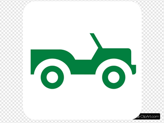 Green Jeep Silhouette Clipart
