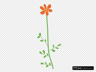 Orange Daisy Flower Clip art, Icon and SVG - SVG Clipart