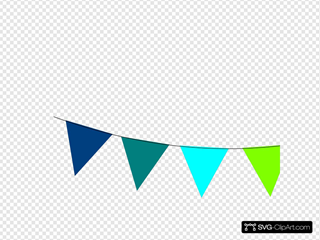 Blue To White Bunting