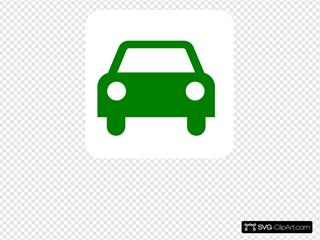 Green Car Sillouette