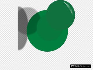 Green Pushpin