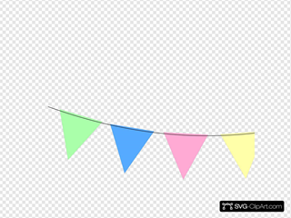 Green Blue Pink Yellow Bunting