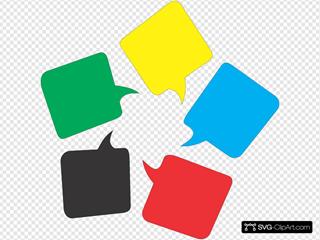 Colored Message Bubbles