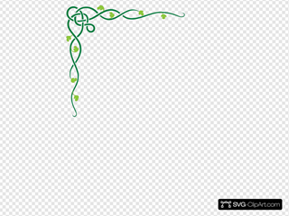Celtic Vine Light Green And Dark Green