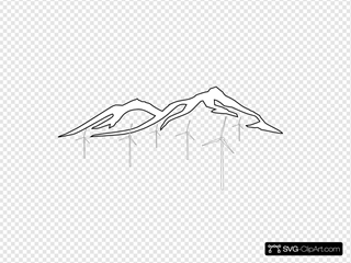 Mountain With Wind Turbines