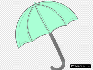 Mint Green Umbrella