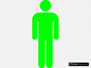 Green Toilet Symbol Man