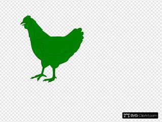 Green Chicken SVG Clipart