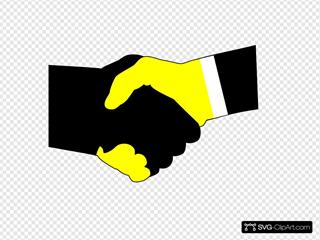 Handshake Green Yellow