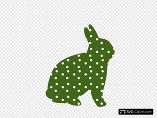 Green Polka Dotted Rabbit