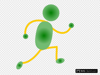 Green&yellow Jogging Man