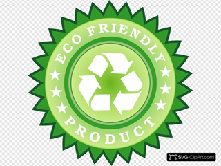 Ecology Friendly Product Sticker Clip Art Icon And Svg Svg Clipart