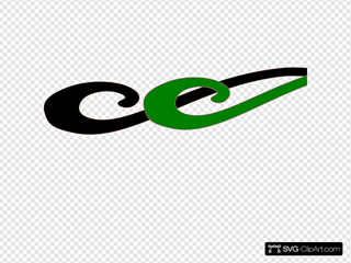 Black And Green Wave Clipart