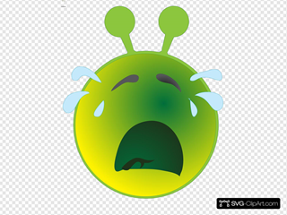 Smiley Green Alien Cry