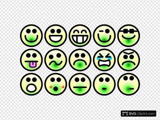 Glossy Smiley Set
