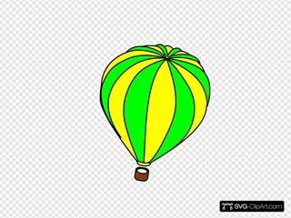 Hot Air Balloon Green