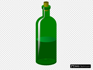 Green Bottle With Cork