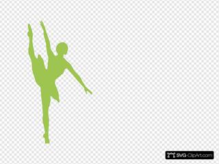 Ballerina Mardi Gras Green