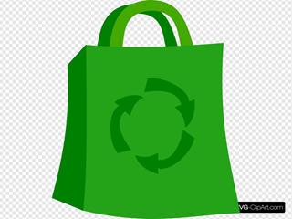 Green Shopping Bag Clipart