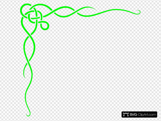 Green Scroll Ribbon Border