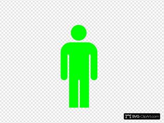 Green Person Symbol