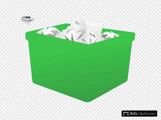 Green Plastic Bin