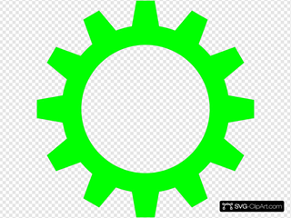 Lime Green Cogwheel